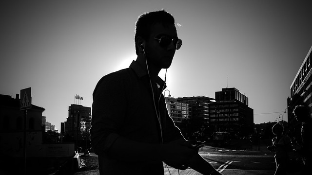 The guy - Oslo, Norway - Black and white street photography