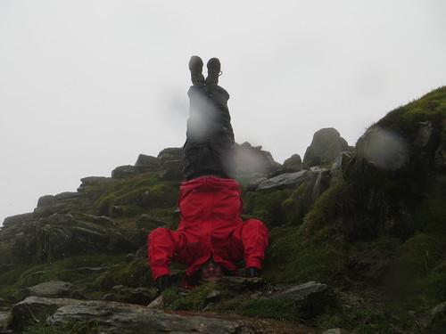 76. snowdon summit headstand