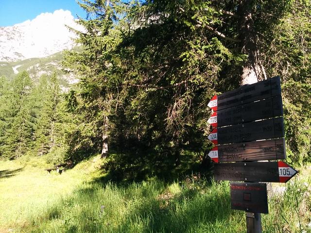 Start Richtung Dreischusterhütte