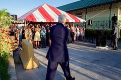 U.S. Embassy Port-au-Prince, Haiti, employees welcome U.S. Secretary of State John Kerry to a meet-and-greet in Port-au-Prince, Haiti, on October 6, 2015. [State Department photo/ Public Domain]