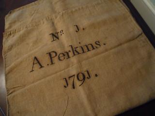 Abraham Perkins cloth bag