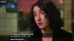 Meg Russell - Newsnight 26 October 2015
