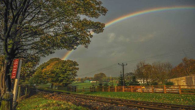 Rainbow Between Summerseat and Bury on the ELR 07.11.2015 Photoshoot