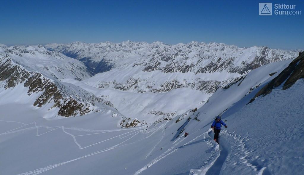 Mittlerer Seelenkogel 3426 m, Langtalerechhütte, Ötztaler Alpen, Obergurgl, Tirol, Austria, http://skitourguru.com/tura/10-mittlerer-seelenkogel