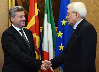 Roma, 3 novembre 2015: incontro del Presidente Mattarella con il Presidente macedone Ivanov
