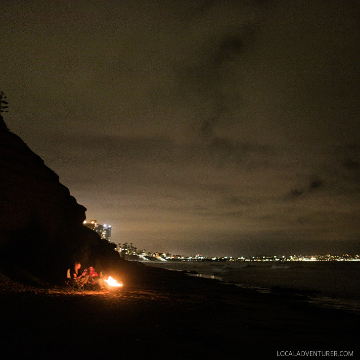 Beach Bonfire at Tourmaline Surfing Park (25 Free Things to Do in San Diego).