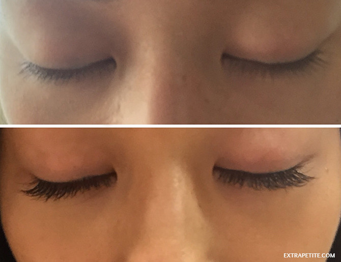 eyelash extensions befor after lash l'amour boston