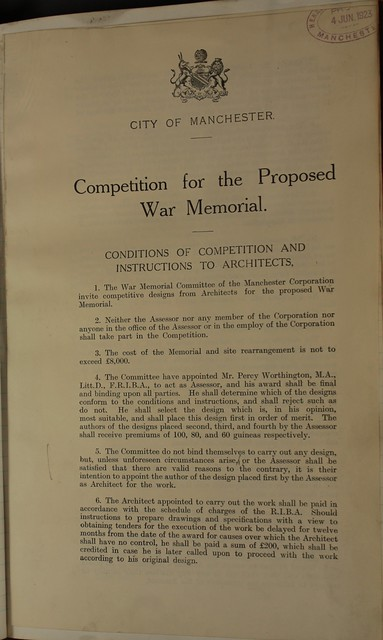 War Memorial Committee Minutes Book Competition Poster