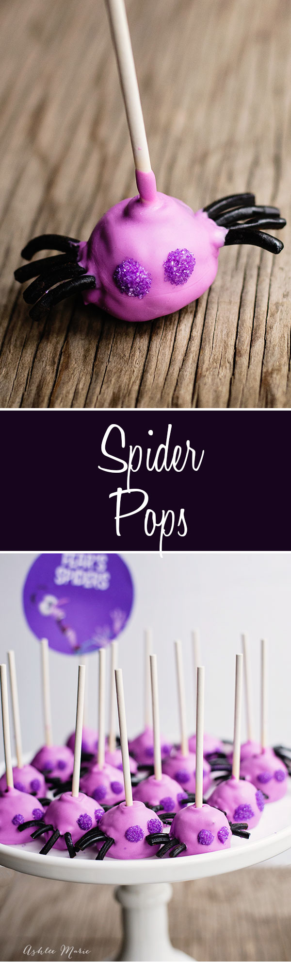 these spider oreo pops are super easy to make, and taste amazing, color them purple to represent Inside Out's Fear