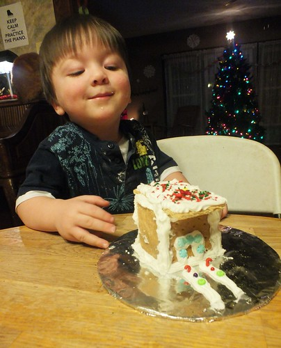 Jack and his gingerbread house