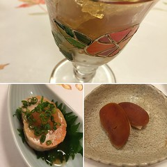 This is getting more and more hardcore ( home made botarga-monk fish pate and shark fin jelly)