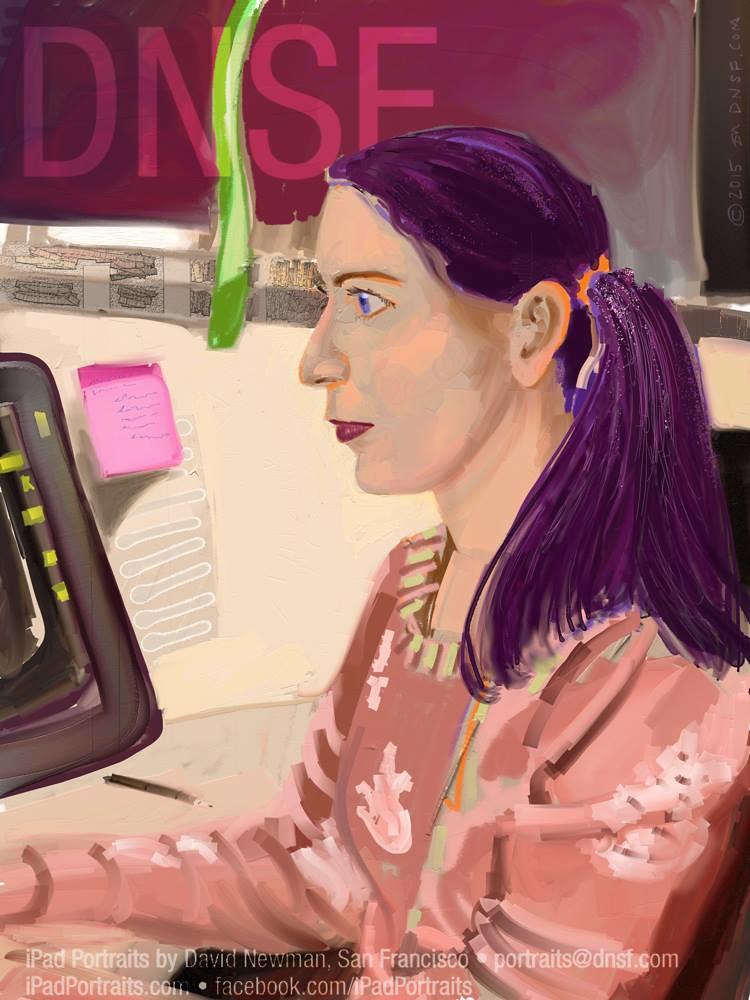 iPad Portrait of Theresa Duringer