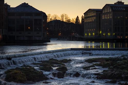 light sunset sky reflection water night river landscape waterfall outdoor sony a7ii sonya7 konicahexanonar8518