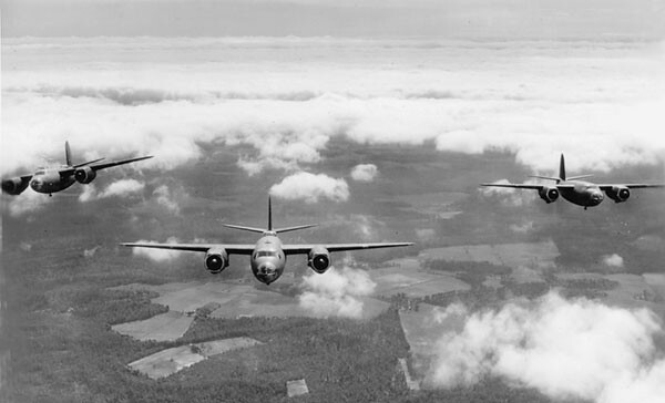 B-26s Flying West