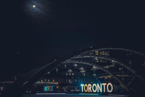 The Moon and Stars over Toronto
