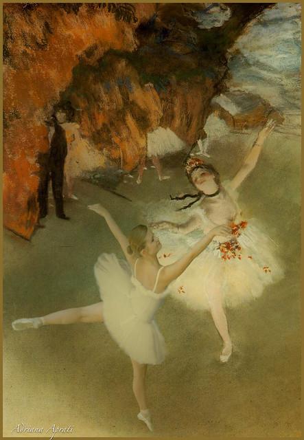29 luglio 2010. Alessandra danza con una ballerina di Degas...
