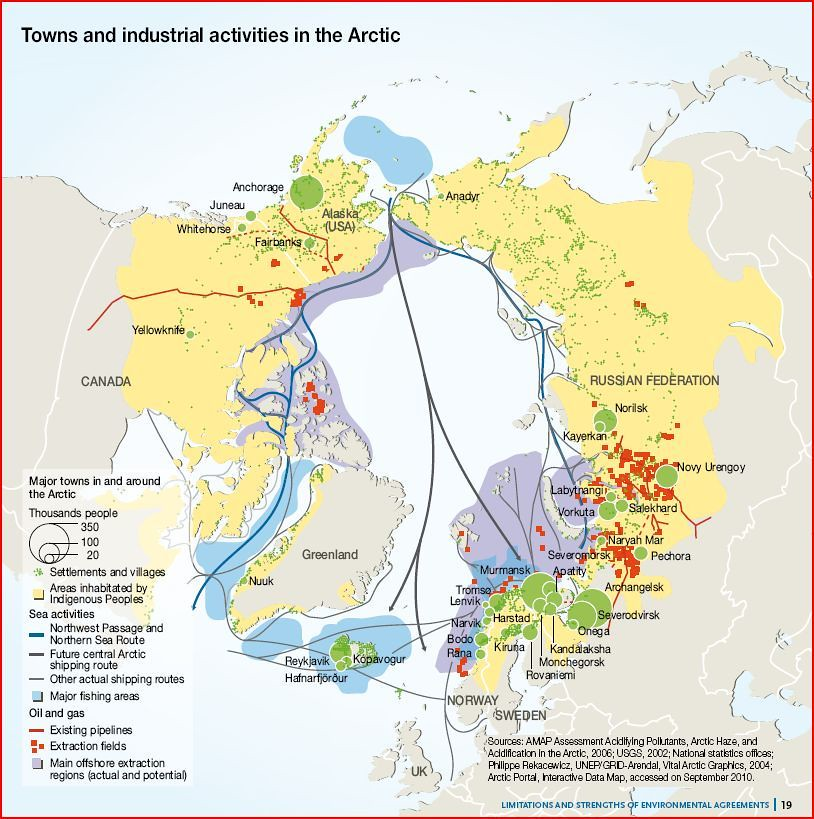 Towns and industrial activities in the Arctic GRIDArendal
