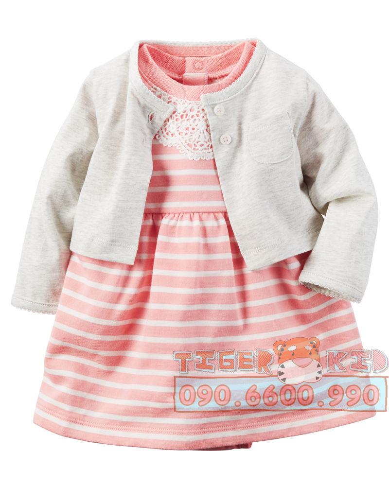 31841721165 1093000bfa o 520  Set Body đầm kèm áo khoác Carters nhập Mỹ