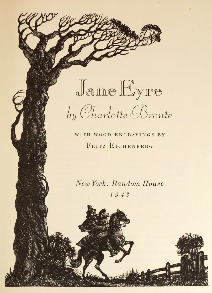 RD14487 Jane Eyre - Wuthering Heights by Charlotte & Emily Bronte 1943 Random House DSC08156