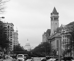 The US Capitol and the Trump International Hotel