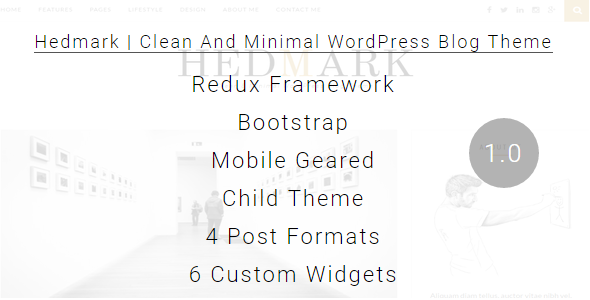 Hedmark v1.0 - Clean & Minimal Responsive WordPress Theme