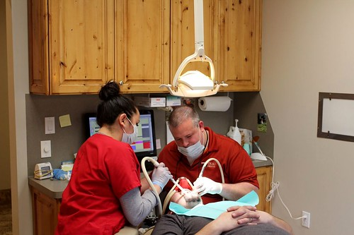 Dental implants specialist Dr. Jeffrey Dental at work