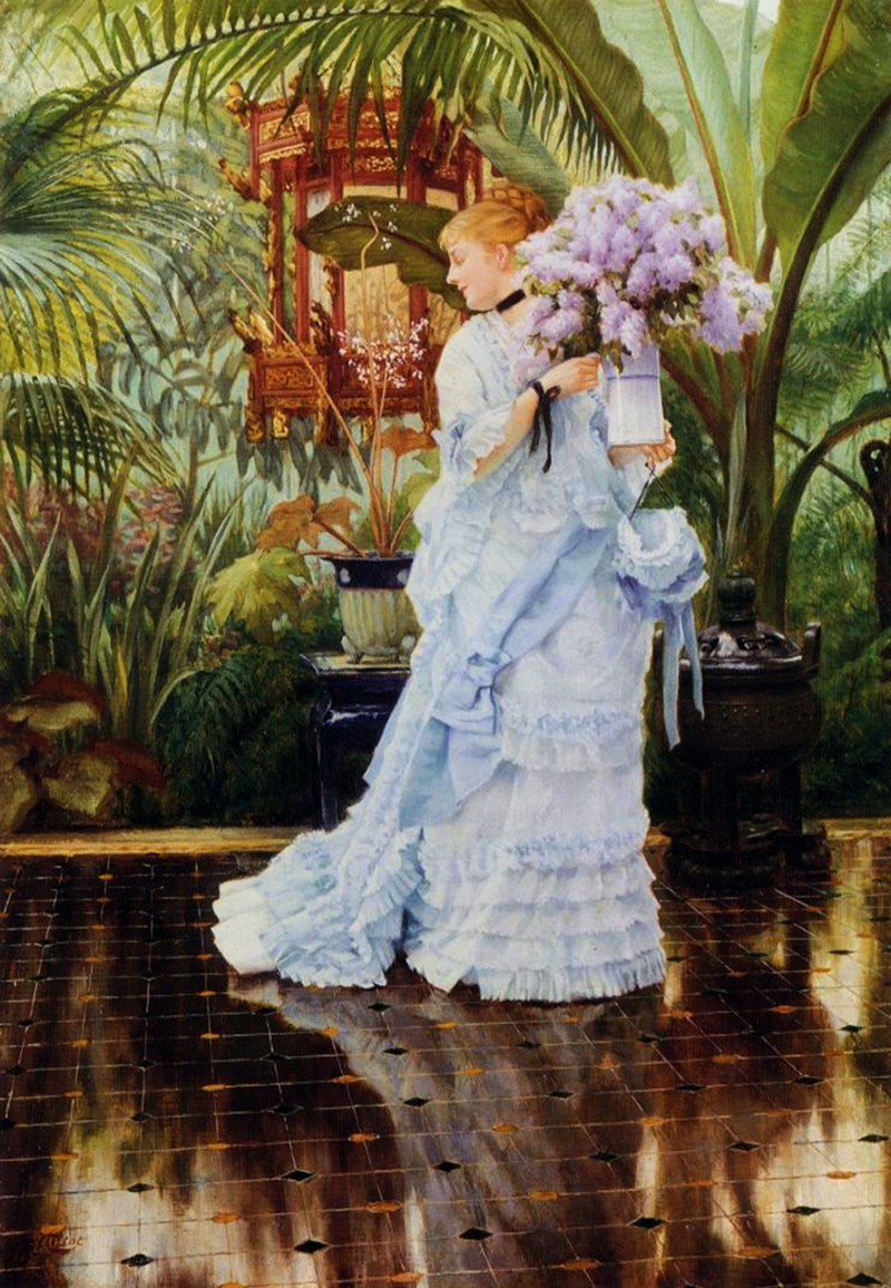 The Bunch of Lilacs by James Tissot, 1875