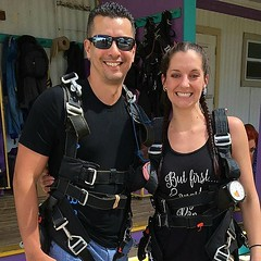 WE SURVIVED SKYDIVING! Holy shit what a rush!! Wasn't my first and definitely won't be my last!  #CSDandSRC #SkyDiveCity #BeAdventurous #WeRock #WhatARush #FreeFall