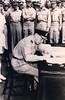 Leonard Monk Isitt signs Japanese Instrument of Surrender, September 2 (1945)