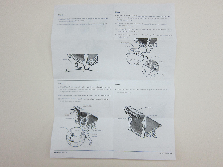 herman miller chair instructions