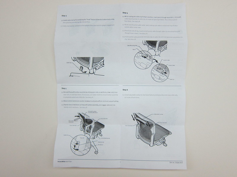 Herman Miller Aeron Chair - Instructions