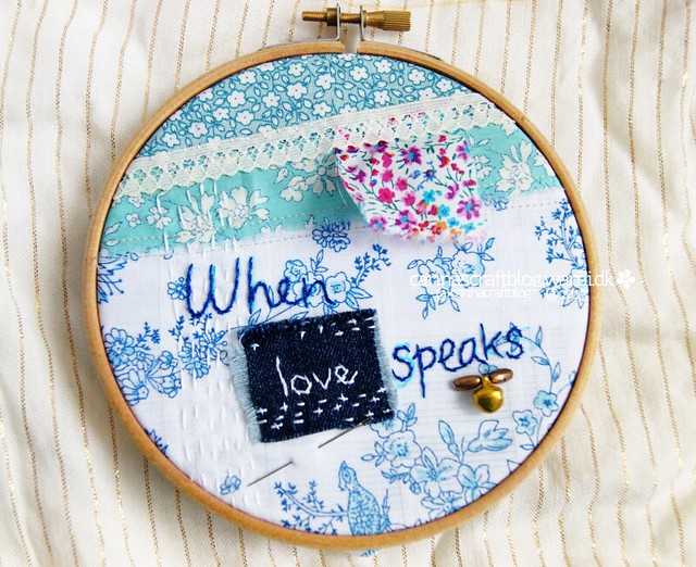 When Love Speaks - stitch improv
