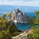 Una roca en el Baikal