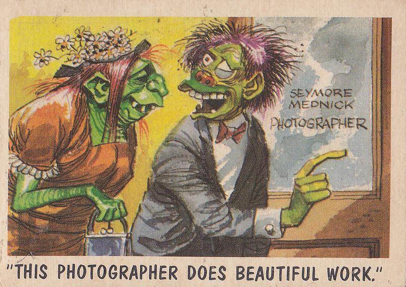 """You'll Die Laughing"" Topps trading cards 1959,  illustrated by Jack Davis (66)"