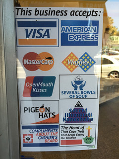 Fake credit card sign