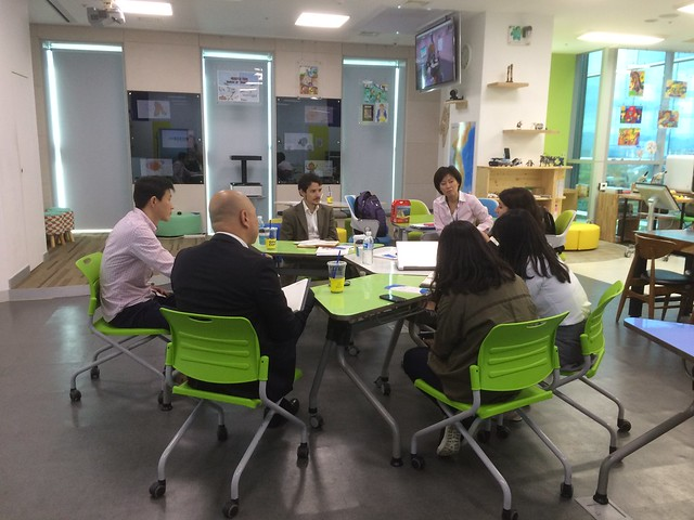 At the Classroom of the Future in the Korea Education and Research Information Services (KERIS), Korea