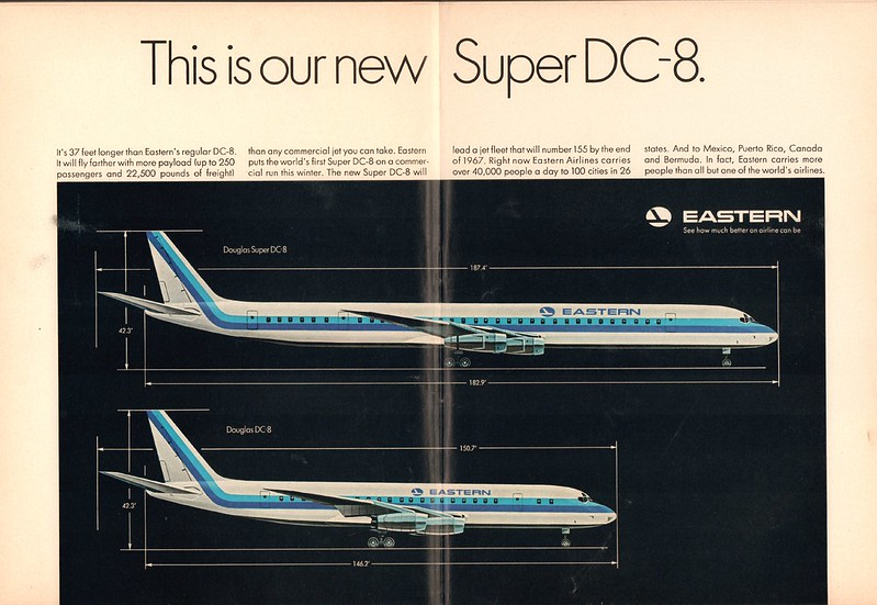 1966 Eastern Airlines Douglas Super DC-8 Advertisement Newsweek September 26 1966