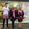 Mayor Joanne Potter & consort Jackie Piper on Wear-it-Pink day