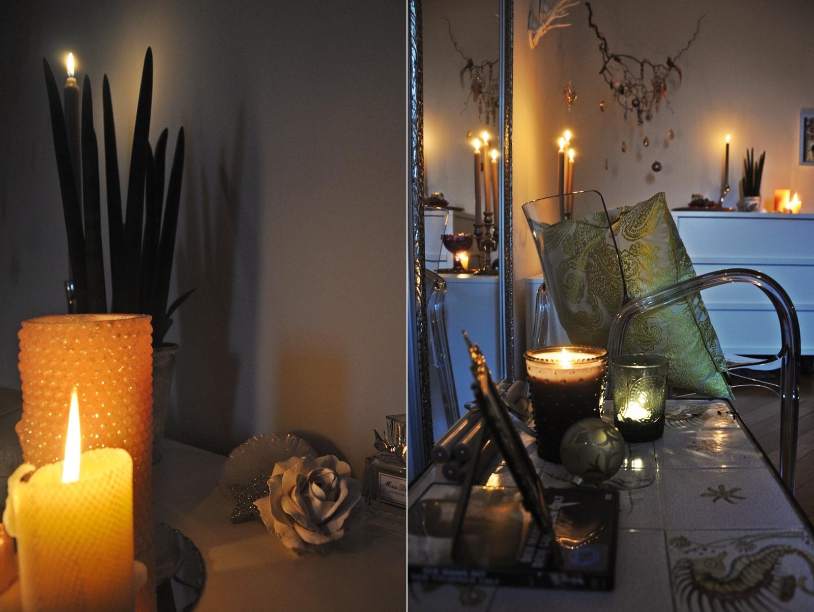 Weihnachtliche Kerzen-Deko