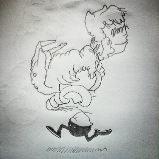 #dailysketch #sketch #sketchbook #drawing #drawnatwork #boredatwork #art #pencildrawing #doodle #dailydoodle #cartoon #cartooning #comics #comicpanel #graffiti #roughdrawing #grunge #punkrock #hiphop #skateboarding #surfing