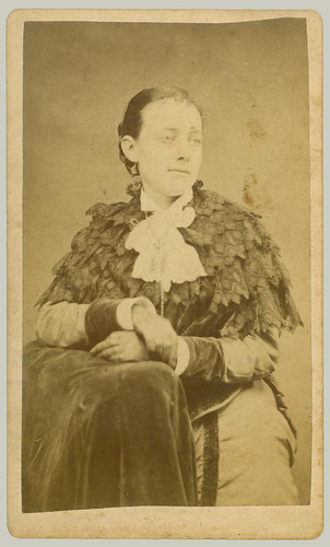 CDV woman with shawl