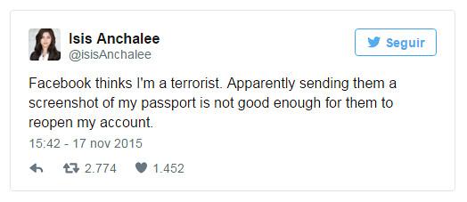 Facebook elimina cuenta de mujer llamada 'Isis'