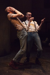 Alex Austin (Jan) and Brian Vernel (Paul) in Barbarians at the Young Vic :copyright:Ellie Kurttz