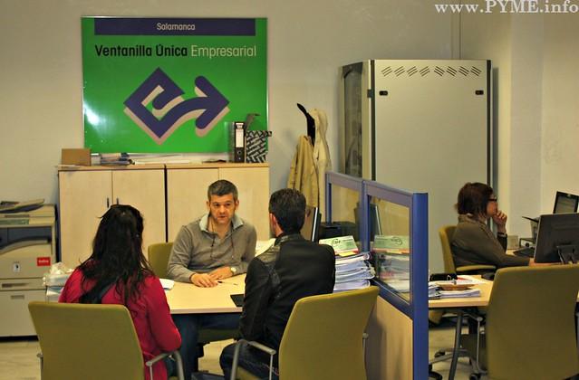 Imagen de la Ventanilla Única Empresarial de Salamanca.