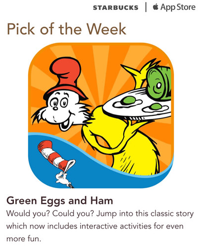 Starbucks iTunes Pick of Week - Green Eggs and Ham