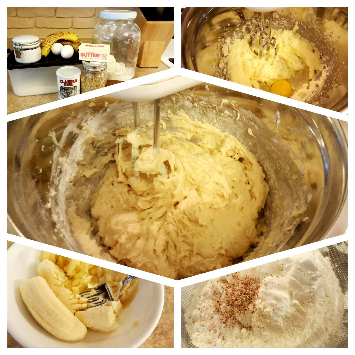 Banana Bread step by step