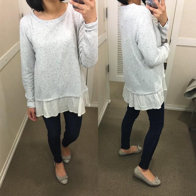 LOFT Flecked Two-In-One Sweater