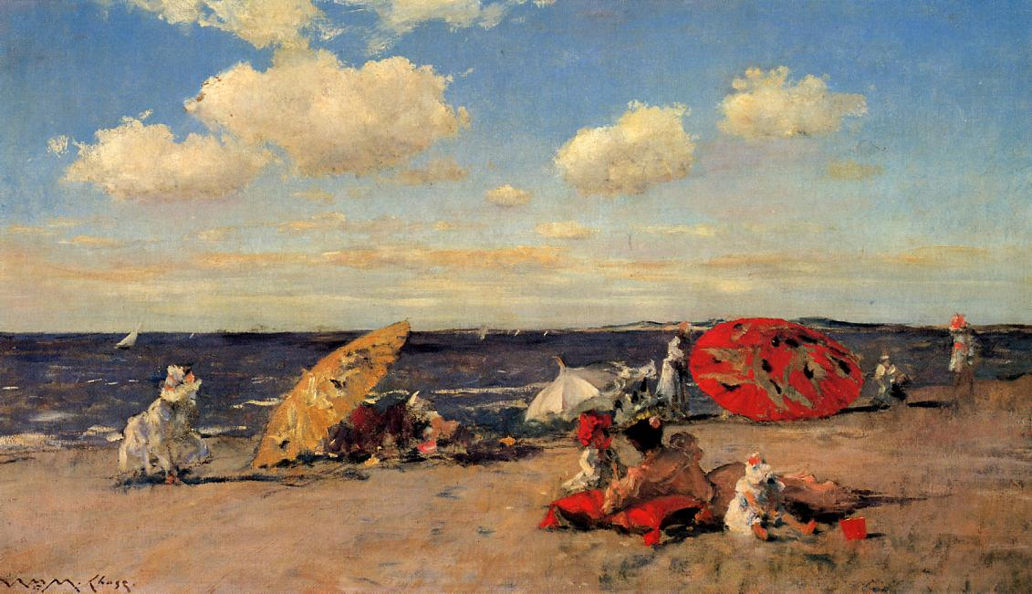 At the Seaside by William Merritt Chase, 1892