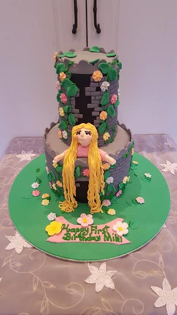 Rupunzel Cake by Kerryn Sweet Art Cakes