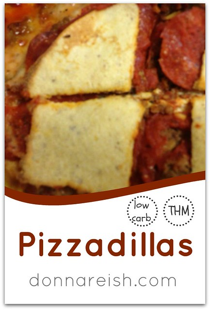 Healthy Pizzadillas (Low Carb, THM)